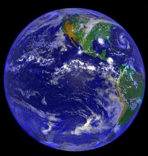 Планета Земля - вид из космоса