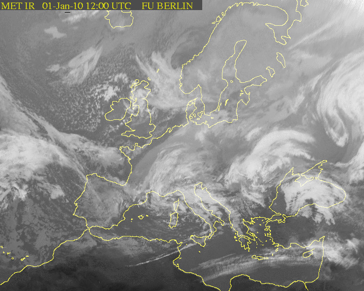 Погода со спутника в европе