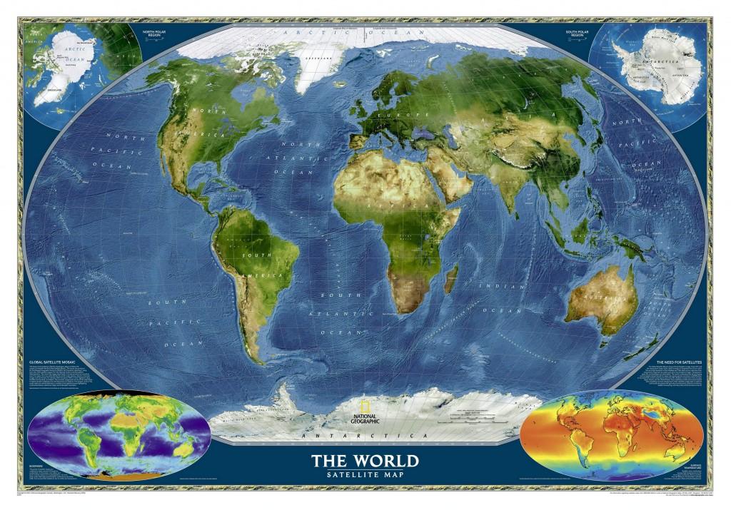 Спутниковая карта Земля