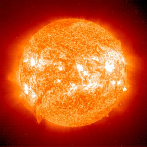 Вспышки на солнце и их влияние на землю