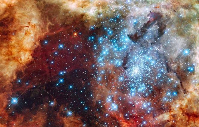 Большое звездное образование R136