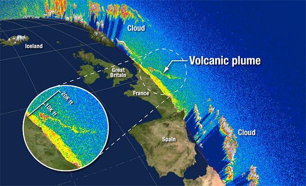 Вулкан Эйяфьятлайокудль. Фото со спутников (5 фото)