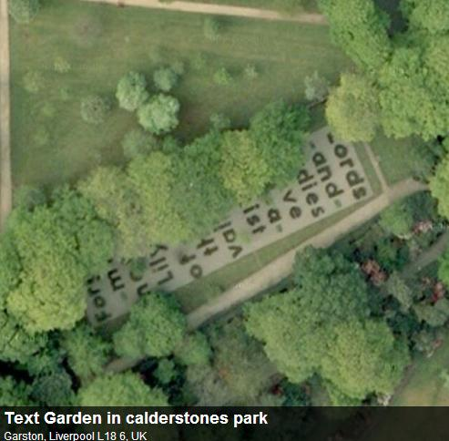 Буквы в парке