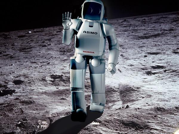 робот на Луне