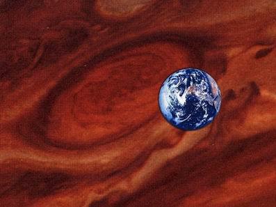 Соотношение Юпитера и Земли