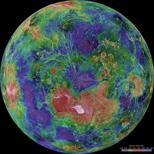 Карта Венеры в высоком разрешении