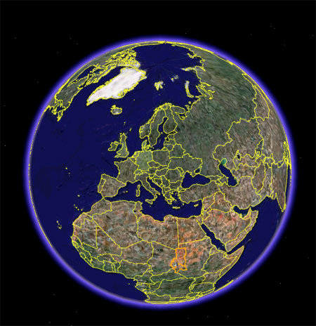 Виртуальная Гугл Планета Земля