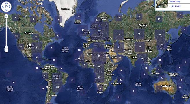Карта метеостанций