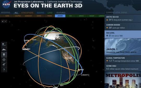 спутники Земли в реальном времени
