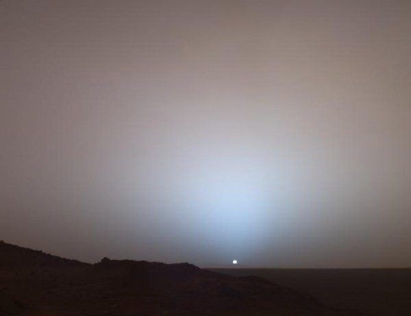 Заход Солнца на Марсе