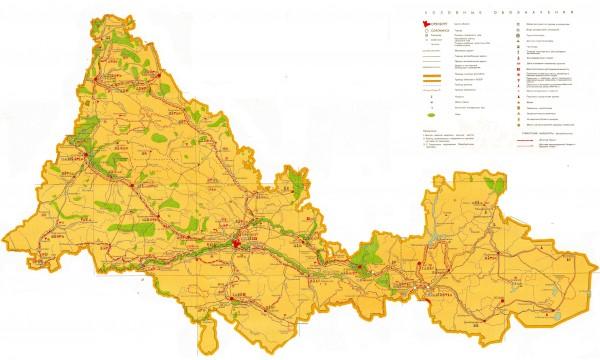 Карта Оренбургской области подробная
