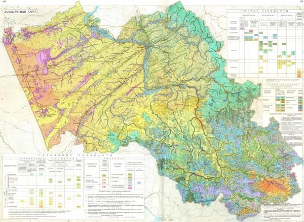 Карта Алтайского края подробная
