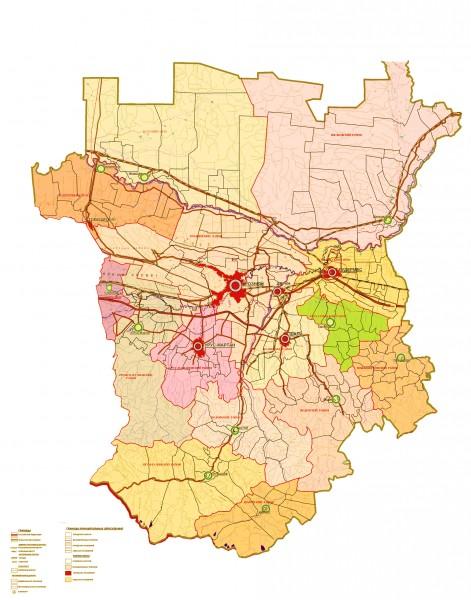 Карта Чечни подробная