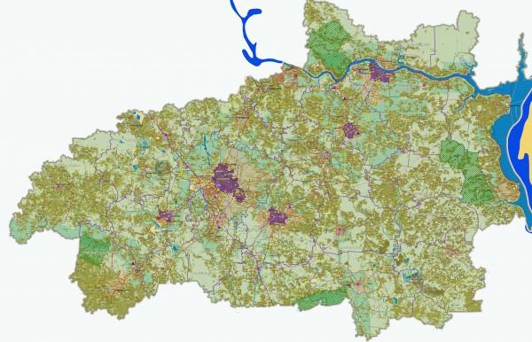 Карта Ивановской области подробная