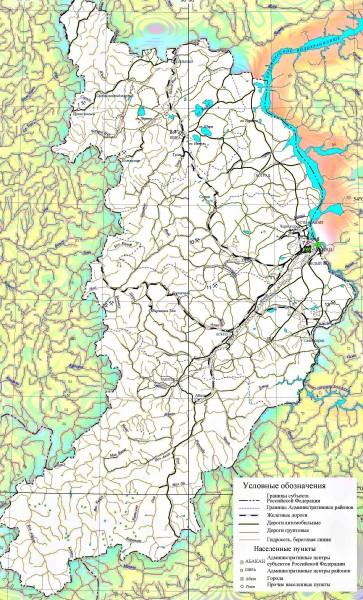 Карта Хакасии подробная