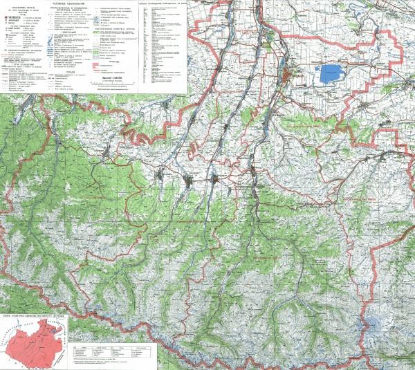 Карта Карачаево-Черкесии подробная