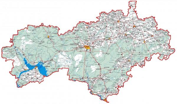 Карта Марий Эл подробная